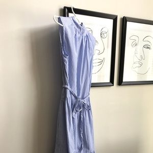 Target blue and white striped maxi dress.